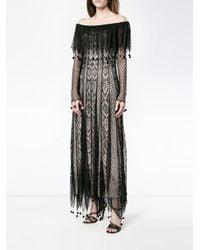 Alexander McQueen Black Pom Pom Lace Dress