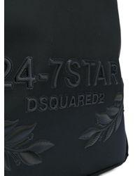 メンズ DSquared² エンボスロゴ バックパック Black
