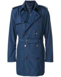 Michael Kors Blue Belted Trench Coat for men