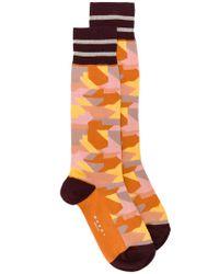 Marni - Orange Camouflage Socks for Men - Lyst