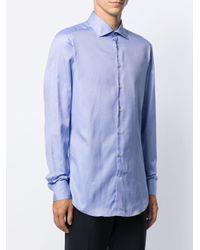 メンズ Etro ロングスリーブ シャツ Blue