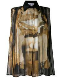 Moschino Black Pleated Shirt