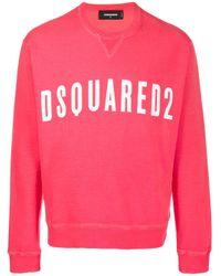 Sweat à logo imprimé DSquared² pour homme en coloris Red
