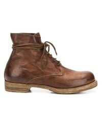 Guidi Brown Donkey Full Classic Derby Shoes for men