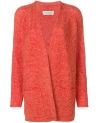 By Malene Birger - Orange Soft Knitted Cardigan - Lyst