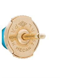 Yvonne Léon - Metallic Petit Turquoise Stud Earring - Lyst