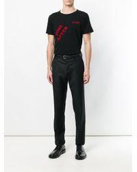 メンズ Saint Laurent Time After Time Tシャツ Black