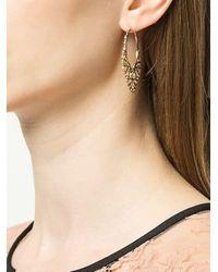 Karen Walker Filigree Hoop Earrings Metallic