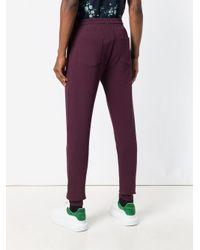 KENZO - Purple Drawstring Track Trousers for Men - Lyst