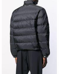 Prada Gewatteerde Mantel in het Black voor heren