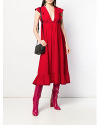 RED Valentino フリル ドレス Red