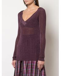 Maglione con paillettes di Missoni in Purple