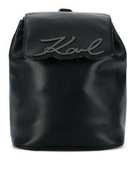 Karl Lagerfeld K/signature バックパック Black