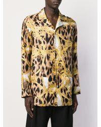 メンズ Versace レオパード シャツ Multicolor