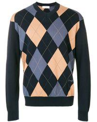 Pringle of Scotland Intarsien-Pullover mit Argyle-Muster in Blue für Herren