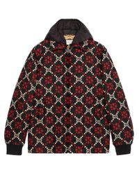 Gucci Black Macro GG Diamond Wool Jacket for men