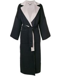 N.Peal Cashmere Blue Double Sided Oversized Coat
