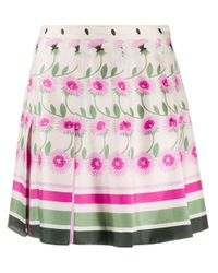Valentino Pink Floral Pleated Skirt