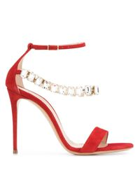 Casadei Blade Luxe サンダル Red