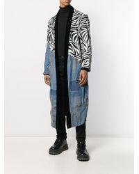 Cappotto patchwork di Greg Lauren in Blue da Uomo