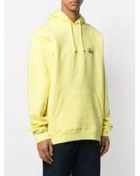 メンズ Stussy ロゴプリント パーカー Yellow