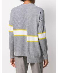 Pull à design asymétrique Fabiana Filippi en coloris Gray