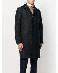Tagliatore - Blue Classic Fitted Coat for Men - Lyst