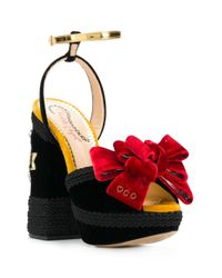 Charlotte Olympia Black Fabulous Sandals