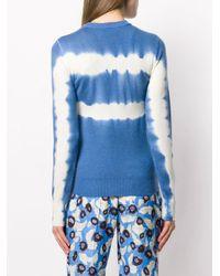 Top en maille à imprimé tie dye Christian Wijnants en coloris Blue