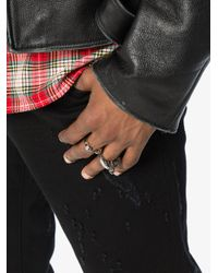 Alexander McQueen - Metallic Silver Twin Skull Ring for Men - Lyst
