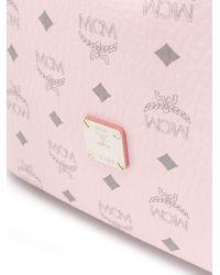 MCM ロゴ バケットバッグ Pink