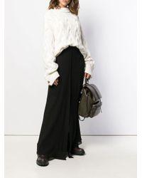 Jupe longue à taille haute Brunello Cucinelli en coloris Black