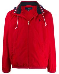 メンズ Polo Ralph Lauren Amherst ジップアップ ジャケット Red