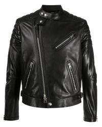 Veste de moto à poches zippées Tom Ford pour homme en coloris Black