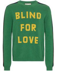Gucci Blind For Love Knitted Jumper in het Green voor heren