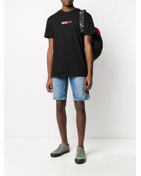 メンズ Tommy Hilfiger ロゴ Tシャツ Black