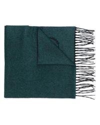 Écharpe à ourlet à franges Dolce & Gabbana pour homme en coloris Green