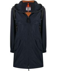 Parajumpers Blue Zipped Hooded Raincoat
