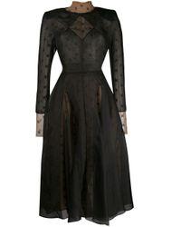 Fendi Black Double-layered Organza Dress