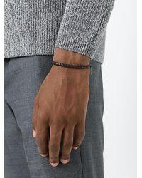 Bottega Veneta - Black Interlaced Bracelet for Men - Lyst