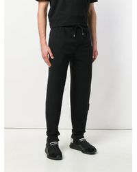 McQ Alexander McQueen - Black Embroidered Logo Track Trousers for Men - Lyst