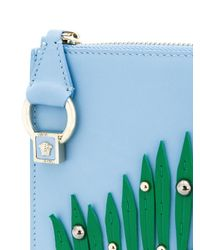Versace Blue Leaf Clutch Bag