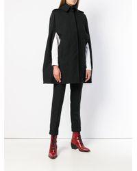 Alexander McQueen Black Cutaway Collar Cape