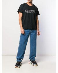 メンズ Rhude ラインストーン ロゴ Tシャツ Black