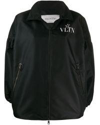 Valentino ロゴ ボンバージャケット Black
