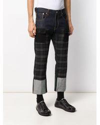 Jeans crop x Levi's a quadri di Junya Watanabe in Multicolor da Uomo