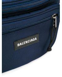 メンズ Balenciaga エクスプローラー ベルトバッグ Blue