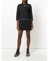 DSquared² - Black Cargo Pockets Dress - Lyst