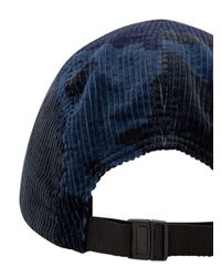 Cappello da baseball con stampa camouflage di Supreme in Blue
