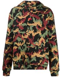 424 Green Camouflage Print Hoodie for men